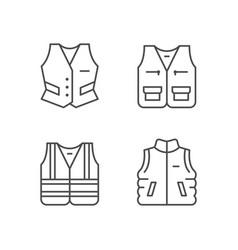 set line icons vest vector image