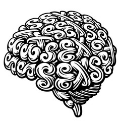 sex brain vector image