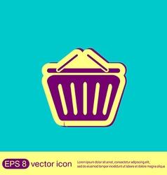 Shopping cart icon vextor vector