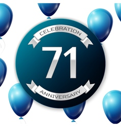 Silver number seventy one years anniversary vector