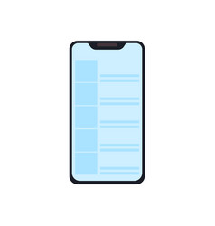 smartphone icon in a modern flat style modern vector image