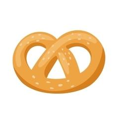 Soft pretzel isolated salty snack fresh german vector