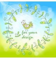 spring background with a simple floral pattern vector image