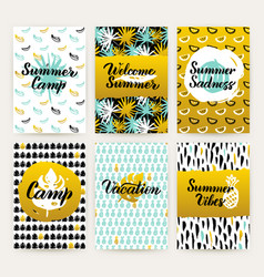 Tropical trendy brochures vector