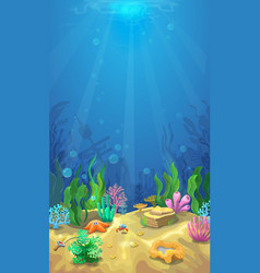 Underwater landscape and the undersea world vector
