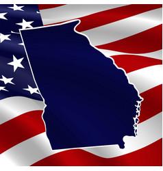 united states georgia dark blue silhouette vector image
