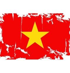 Vietnam grunge flag vector