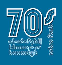 Vintage creative lower case alphabet letters vector