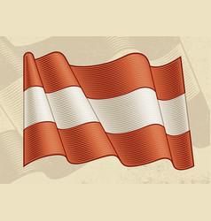 vintage flag austria vector image