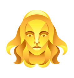 Virgo zodiac sign golden horoscope symbol vector