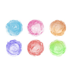 Watercolor brush isolated on white background vector