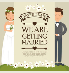 We are getting married card vector