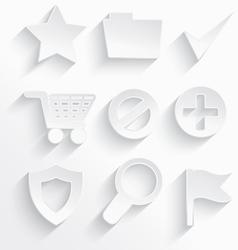 White Internet icons star vector