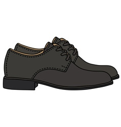 Black shoes vector image vector image