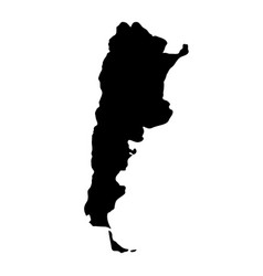 black silhouette country borders map of argentina vector image