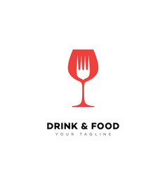 drink and food logo vector image vector image