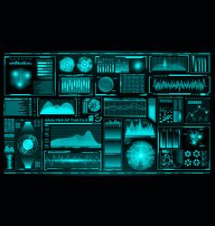 futuristic user interface set hud future vector image