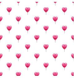 pink heart balloon pattern vector image vector image