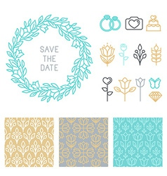 save the date design template vector image vector image