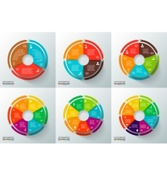 circles with arrows for infographic vector image vector image