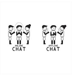 Compare black and white present talk vector image