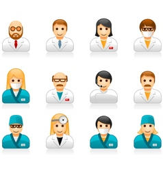 Medical staff avatars - user icons of doctors vector image vector image