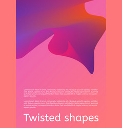 modern cover with twisting shape element trendy vector image