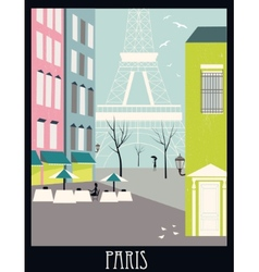Paris street vector image vector image