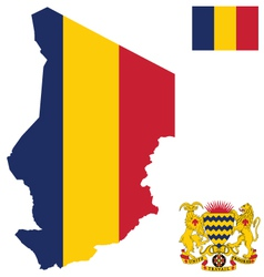 Republic of Chad Flag vector image