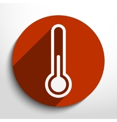 thermometer web icon vector image