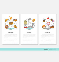 bakery and desserts business brochure template vector image