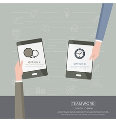 Partnership business with icon vector image