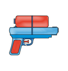 toy water gun plastic play funny icon vector image