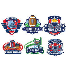 american football badge design vector image vector image