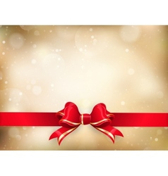 Christmas decoration - Red ribbon EPS 10 vector image