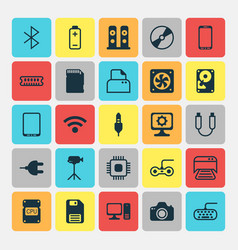 Computer icons set collection of portable memory vector