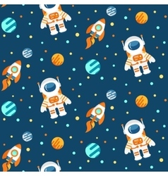 Cute space pattern vector image