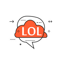 outline speech bubble with lol phrase vector image vector image