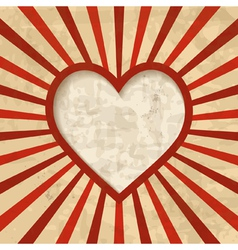 retro background with a heart frame vector image vector image
