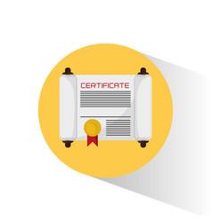 school certificate diploma document vector image
