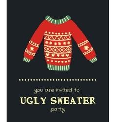 Sweater invitation 5 vector