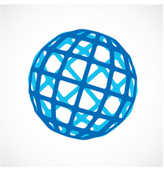 3d digital spherical object made using square vector