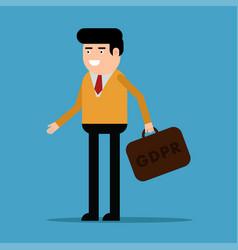 a man with a diplomat gdpr vector image