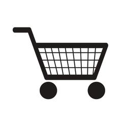 abstract shopping cart icon vector image