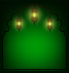 Arabic lanterns vector