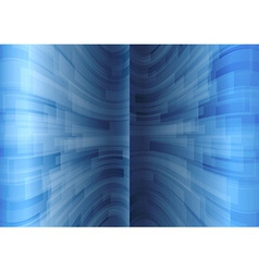 background blue stripes wave vertical vector image