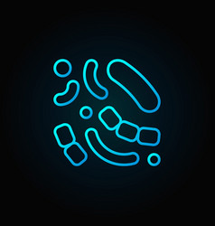 Bacteria blue icon or logo element vector