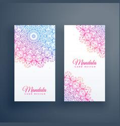 beautiful colorful mandala card design vector image