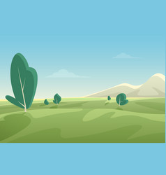 beautiful summer fields landscape with green hills vector image