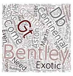 Bentley Versus Aston text background wordcloud vector